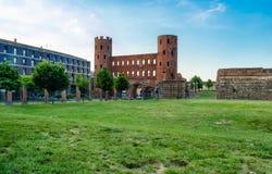 Palatine Gate (Palatine Towers), Turin royalty free stock image