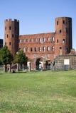 The Palatine Gate (Porta Palatina), Turin Stock Images