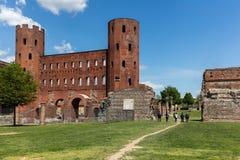 Palatine Gate in Turin, Italy Stock Photos