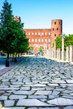 The Palatine Gate in Turin, Italy Royalty Free Stock Photo