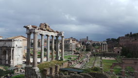 Palatine Hill. The Palatine Hill is part of the so-called Rome Quadrata. The Palatine is the most central of Rome`s seven hills and is one of the oldest parts of Royalty Free Stock Photos