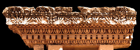Palatine Hill, Rome, Architectural Element. Intricate stone carving that decorated an ancient Roman home on Palatine Hill Stock Image