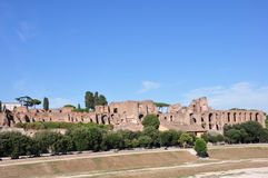Palatine Hill Rome Italy seen from Circus Maximus Stock Photos