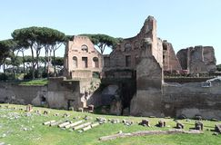 Palatine Hill in Rome Stock Image