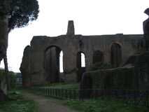 palatine-hill-ruins Stock Photo