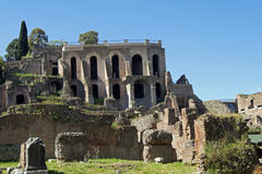 Palatine hill. View from Forum Romanum Stock Photography