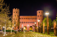 Palatine Towers in Turin Stock Photography