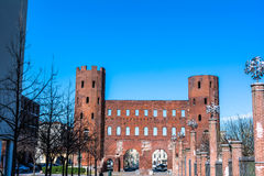 The Palatine Towers in Turin Royalty Free Stock Photo