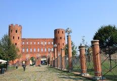 Palatine towers in Turin Stock Photos