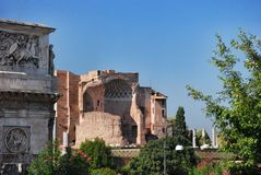 Palatino from Colosseum in Rome, Italy Royalty Free Stock Photos