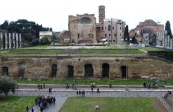 Palatino ruins in Rome, Italy Royalty Free Stock Images