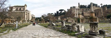 Palatino ruins in Rome, Italy Royalty Free Stock Photography