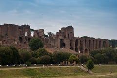 Palatium in den Ruinen Stockfoto