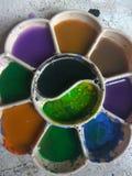 Palatte och abstrakta färgglade färger royaltyfria foton