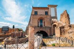 Palatynu wzgórza antyczne ruiny w Rzym, Włochy obrazy royalty free