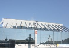 Palau De Cogressos de Barcelona Foto de archivo