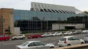 Palau de Congressos de Barcelona. stock video footage