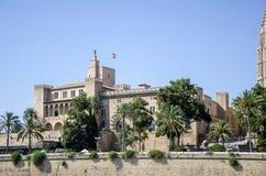 Palau de l'Almudaina, Palma de Mallorca, Spagna Immagine Stock