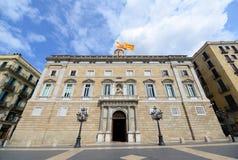 Palau de la Generalitat de Catalunya, Barcellona Fotografie Stock Libere da Diritti