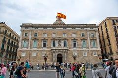 Palau de la Generalitat de Catalunya em Barcelona Imagem de Stock Royalty Free