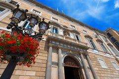 Palau de la Generalitat - Espanha de Barcelona fotografia de stock royalty free