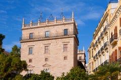 Palau de la Generalitat Valenciana Palace in Valencia Royalty Free Stock Photo