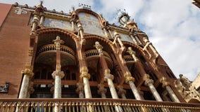 Palau de la Musica Barcelona Imagens de Stock