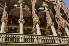 Palau de La Musica Catalana. Arkivfoton