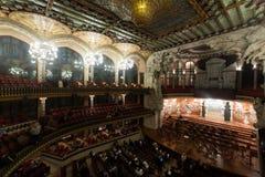 Palau de la Musica Catalana with audience, Spain Stock Images