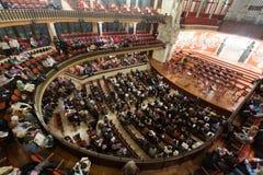 Palau de la Musica Catalana with audience, Spain Royalty Free Stock Photos