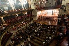 Palau de la Musica Catalana with audience, Spain Stock Photography