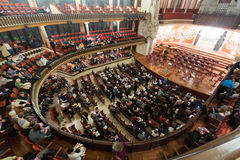 Palau de la Musica Catalana with audience, Spain Stock Photo