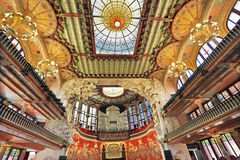 The Palau de la Musica Catalana, Barcelona, Spain, Europe. The Palau de la Musica Catalana is a concert hall in Barcelona, built between 1905 and 1908 by the royalty free stock photo