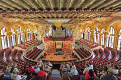 The Palau de la Musica Catalana, Barcelona, Spain, Europe. The Palau de la Musica Catalana is a concert hall in Barcelona, built between 1905 and 1908 by the royalty free stock image