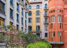 Palau de la Musica Catalana, Barcelona, Spain. Exterior detail view of palau de la musica catalana, located at ribera district in barcelona city stock photography