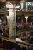 Palau de la Musica Catalana con il pubblico Barcellona, Spagna Fotografia Stock Libera da Diritti