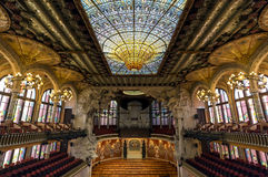 The Palau de la Musica Catalana is a concert hall, built by the architect Lluis Domenech i Montaner, Barcelona, Spain. Royalty Free Stock Image
