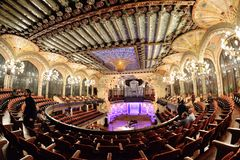 The Palau de la Musica Catalana Palace of Catalan Music a concert hall designed in the Catalan modernista style stock images