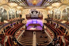 The Palau de la Musica Catalana Palace of Catalan Music a concert hall designed in the Catalan modernista style royalty free stock photos