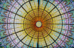 Palau de la Musica Catalana skylight Royalty Free Stock Image
