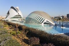 Palau de les Arte e Hemisferic em Valência, Espanha Fotografia de Stock