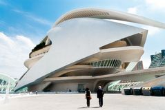 Palau de les Arts. VALENCIA, SPAIN - APRIL 28: the Palau de les Arts on April 28, 2012 in Valencia. The building is part of The City of Arts and Sciences, which Royalty Free Stock Photo