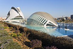 Palau de les Arts and Hemisferic in Valencia, Spain. Stock Photography