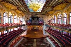 Palau De Los angeles Musica, Barcelona -, Hiszpania Fotografia Stock