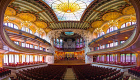 Palau De Los angeles Musica, Barcelona -, Hiszpania Obrazy Royalty Free