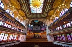 Palau De Los angeles Musica, Barcelona -, Hiszpania Zdjęcia Stock