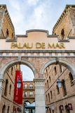 Palau de março, uma construção do século XIX histórica situada no porto de Barcelona, Espanha fotografia de stock royalty free