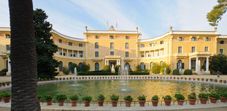 Palau de Pedralbes, Barcelona. Palau de Pedralbes. A museum nowadays, was the residence for the Spanish Royal Family when they visited the city. Barcelona Stock Images