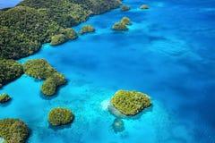 Palau eilanden van hierboven Royalty-vrije Stock Afbeeldingen