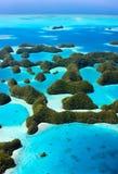 Palau eilanden van hierboven royalty-vrije stock foto